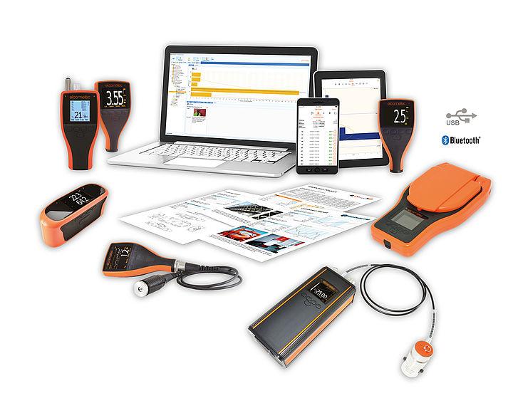Software Elcomaster je kompatibilný s mnohými prístrojmi Elcometer