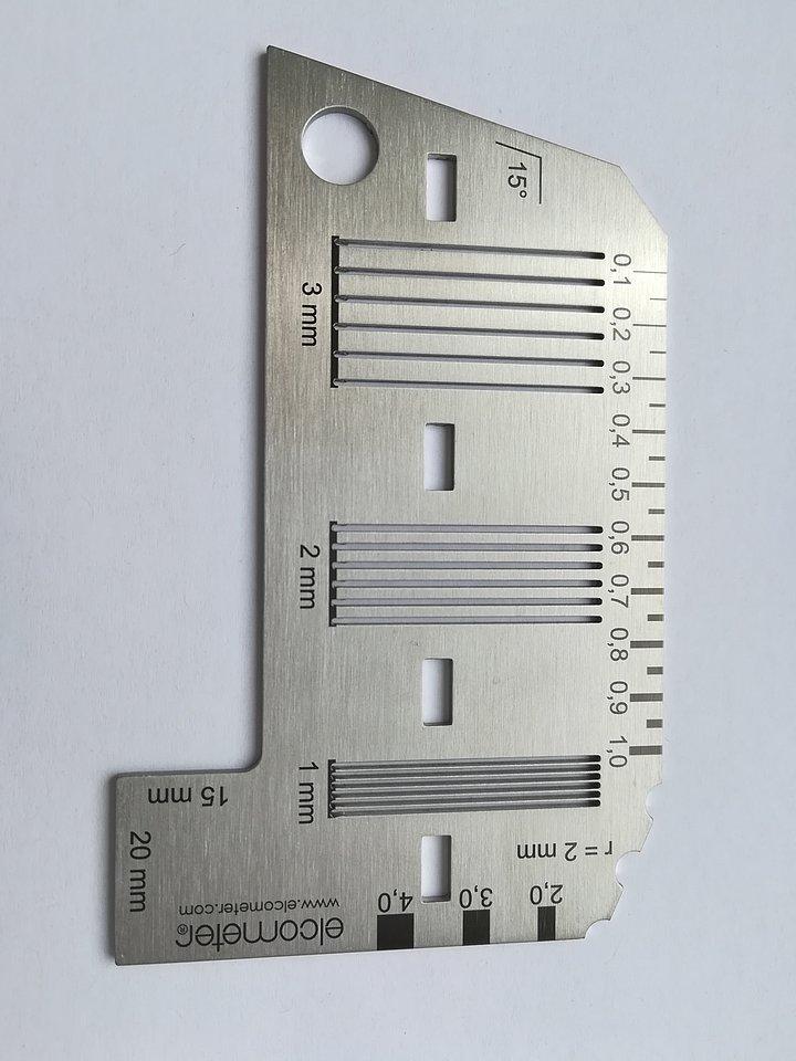 Šablona pro mriežkovú skúšku Elcometer je v súlade s ISO 2409